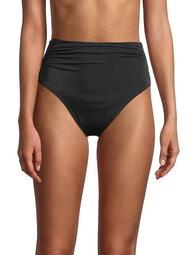 Tricot Shirred Bikini Bottom