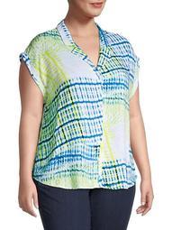 Plus Weekender Tie-Dye Shirt