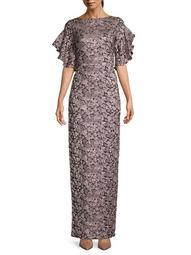 Shimmer Column Gown