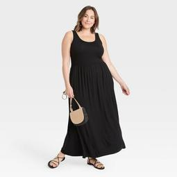 Women's Plus Size Sleeveless Knit Babydoll Dress - Ava & Viv™