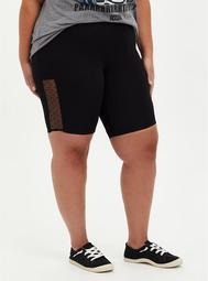 Black Mesh Side Bike Short