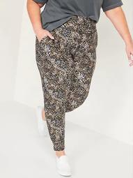 High-Waisted PowerSoft Side-Pocket Plus-Size 7/8-Length Jogger Pants