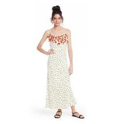 Polka Dot Sleeveless Ruffle Slip Dress - RIXO for Target White