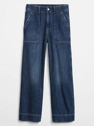 High Rise Wide-Leg Crop Jeans With Washwell™