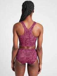 Conscious Crop Printed Bikini Top A-C