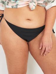Low-Rise String Bikini Plus-Size Swim Bottoms