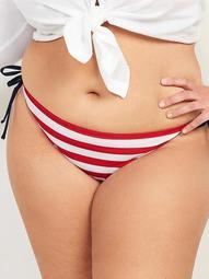 Low-Rise Americana Plus-Size String Bikini Swim Bottoms