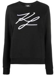 signature embroidery cotton sweatshirt
