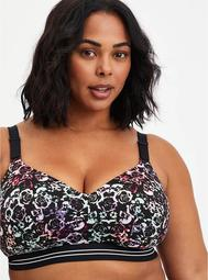 Lightly Lined Wire-Free Active Sports Bra - Skull with 360° Back Smoothing™️