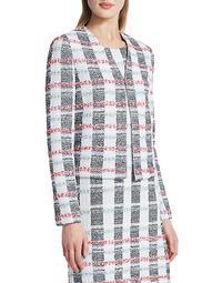 Striped Tweed Knit Jacket