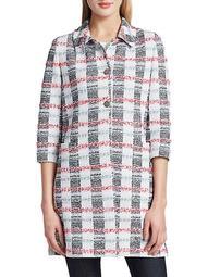 Striped Tweed Longline Jacket