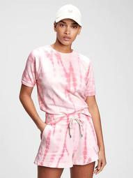 Vintage Soft Raglan Short Sleeve Crewneck Sweatshirt