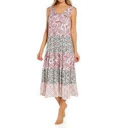 Ellen Tracy Spandex Jersey Sleeveless Midi Gown with Soft Bra 8223041