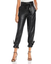 Faux Leather Ankle Tie Pants - 100% Exclusive