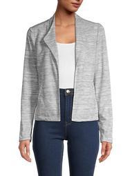 Heathered Open-Front Jacket
