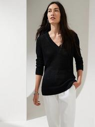 Shimmer Linen-Blend Sweater Tunic