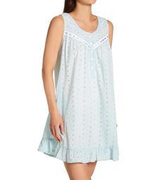 La Cera 100% Cotton Woven Embroidered Short Gown 1333C