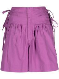 lace-detail cotton shorts
