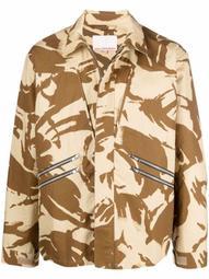 camouflage-print hunting jacket