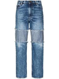 reverse-panel high-rise boyfriend jeans