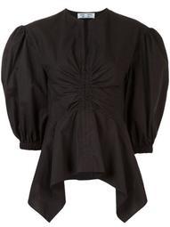 peplum cotton blouse