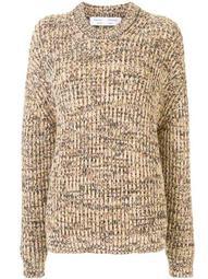 mixed yarns knitted jumper