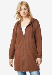 Zip-Front Hoodie With Zip Pockets