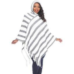 Women's Plus Size Casandra Poncho - White Mark