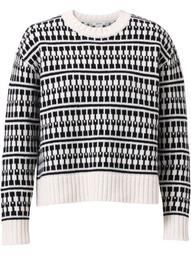 graphic-print knitted jumper