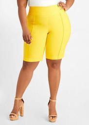 Pintuck Millennium Bermuda Shorts