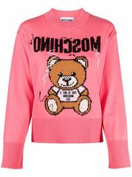 inside-out Teddy embroidered jumper