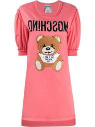 teddy embroidery T-shirt dress