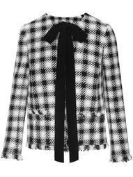 pussy-bow checked jacket