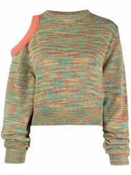 cutout marl-knit jumper