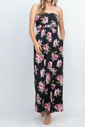 Tube-Top-Floral-Pocket-Maxi-Dress-With-Inside-Lining