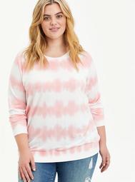 Raglan Sweatshirt - Tie Dye Pink