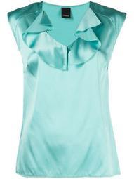 silk-blend ruffle top