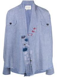 raw-edge denim jacket