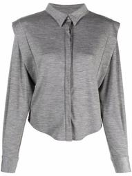 structured-shoulder wool shirt