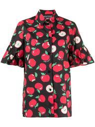 apple-print cotton shirt