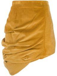 corduroy asymmetric skirt