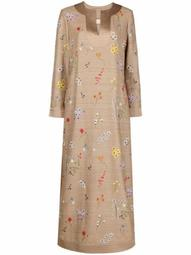 embroidered-floral tunic dress