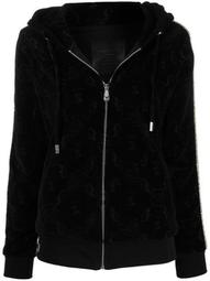 Monogram zipped hoodie