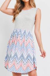 Leeveless-Boho-Prin- Round-Hem-Dress