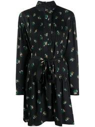 belted floral shift dress