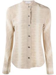 Pavotta animal-print silk shirt