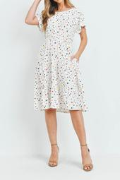 Multi-Color-Stars-A-Line -Iered-Dress