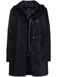 hooded layered parka