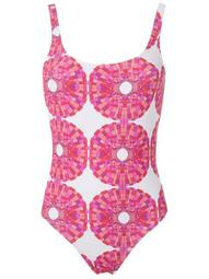 abstract-print open back one piece