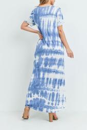 Criss-Cross-Neck-Tie-Dye-Maxi-Pocket-Dress